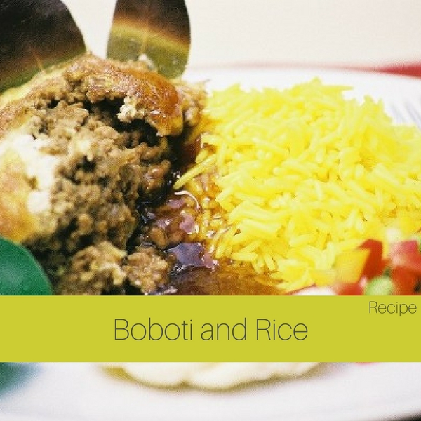 Boboti and rice